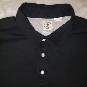 XL Black Volcom Polo